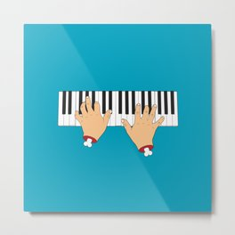 Piano Hands Metal Print
