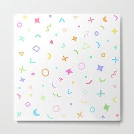 Geometric Pattern - Pastel Rainbow Metal Print