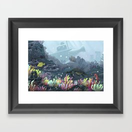 Underwater Coral Framed Art Print