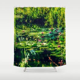 Giverny Water Lilies Shower Curtain