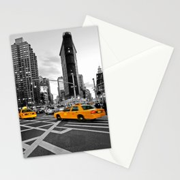 NYC - Yellow Cabs - FlatIron Stationery Cards
