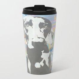 weimaraner  Metal Travel Mug