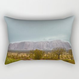 Uluru in the rain Rectangular Pillow