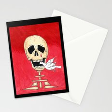 Death eating peace Stationery Cards