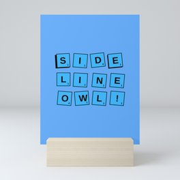 Sidelineowl's 1st edition theme saphire Mini Art Print