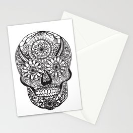 Decorative Skull Stationery Cards