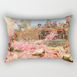 The Roses of Heliogabalus by Sir Lawrence Alma-Tadema Rectangular Pillow