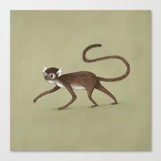 Squirrel Monkey Walking Canvas Print