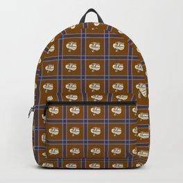 Blue Tongues Skink Plaid Backpack