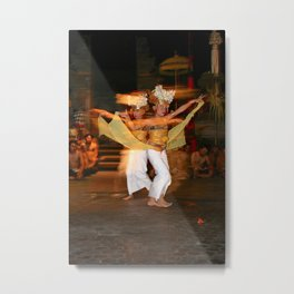 Balinese Dancing Girls Metal Print