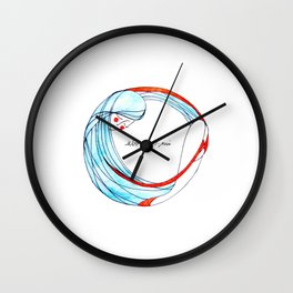 AbbraccioMi // Hugging Myself Wall Clock