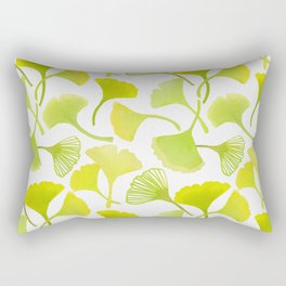 First Day of Autumn Ginkgo Leaves Rectangular Pillow