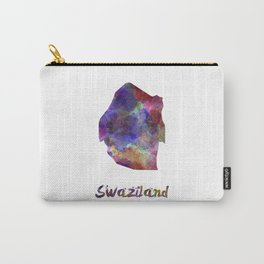 Swaziland in watercolor Carry-All Pouch