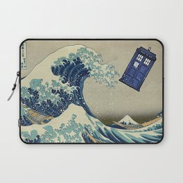 The Great Wave Doctor Who Laptop Sleeve