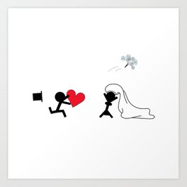 I marry you by Oliver Henggeler Art Print