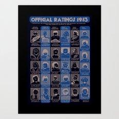 Official Ratings 1983 Art Print