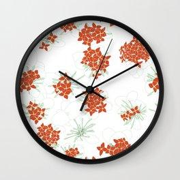 Red Jasmine Flowers Wall Clock