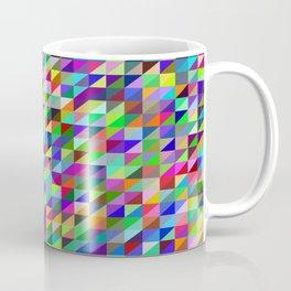 Colorful small trangles digital pattern Coffee Mug