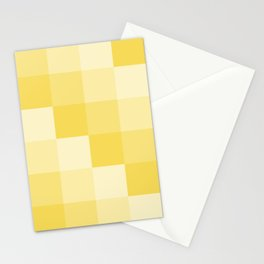 Four Shades of Yellow Square Stationery Cards
