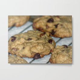 Orange Chocolate Chip Cookies Metal Print