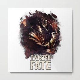 TWISTED FATE - League of Legends Metal Print