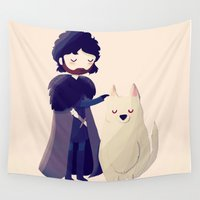 thrones Wall Tapestries featuring Night Gathers by Nan Lawson