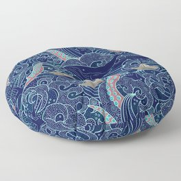 Octopus Origami Boats Floor Pillow
