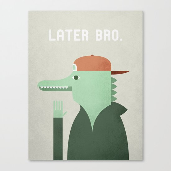Later Gator Canvas Print