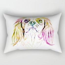 Cavalier King Charles Spaniel Dog Art Painting Rectangular Pillow
