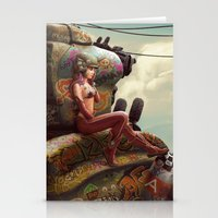 tank girl Stationery Cards featuring Tank Girl Pepper by St.Man