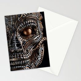 Biomechanical monster Stationery Cards