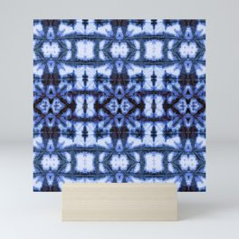 Blue Oxford Shibori Mini Art Print