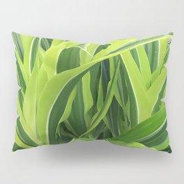 Exotic Lush Green Leaves Pillow Sham