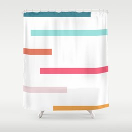 Lines Of Levels Shower Curtain