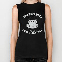 Diesel or Nothing Truck 4X4 Power Fuel Gas Mask Silver Biker Tank
