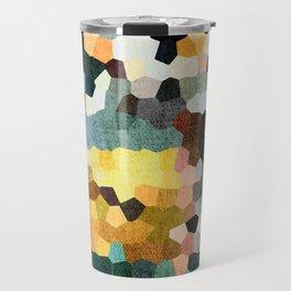 Feel Good Colors, A Warm Abstract Mosaic Travel Mug