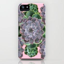 ORNATE JADE & GREEN SUCCULENT PINK   GARDEN iPhone Case