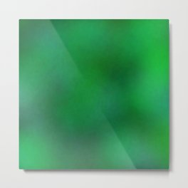Color gradient and texture 76 green Metal Print
