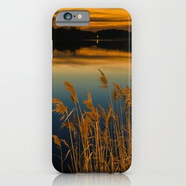Nature Landscape Photography - Sunset at Reedy Point Pond iPhone Case
