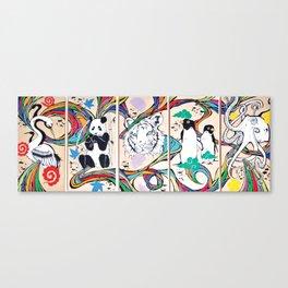 Colore En Noir Et Blanc Canvas Print