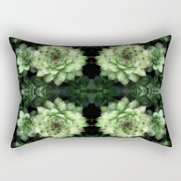 Green Chickens 3 Rectangular Pillow