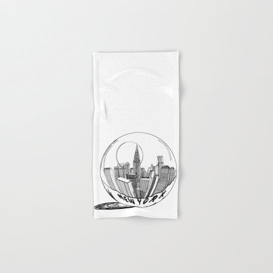 New York in a glass ball Hand & Bath Towel