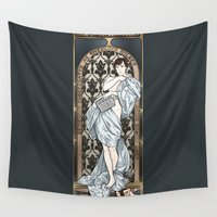 mucha Wall Tapestries featuring A Scandal in Belgravia - Mucha Style by Alessia Pelonzi