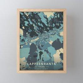 Lappeenranta, Finland - Cream Blue Framed Mini Art Print