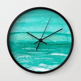 Bleu Wave Rising Wall Clock