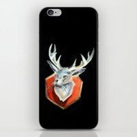 jackalope iPhone & iPod Skins featuring Jackalope by Danielle Guelbart