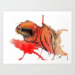 Paint Wash Monster #1 Art Print