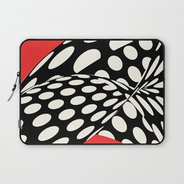 Wavy Dots on Red Laptop Sleeve