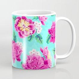 Bright Flowers Pretty Peonies Coffee Mug