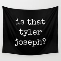 tyler spangler Wall Tapestries featuring Is That Tyler Joseph? by Janine